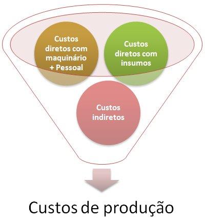 Composição dos custos de produção agrícola